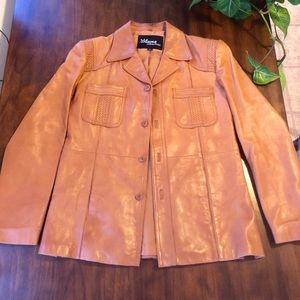 Vintage 1970s 70s Camel Tan Wilson Leather Jacket